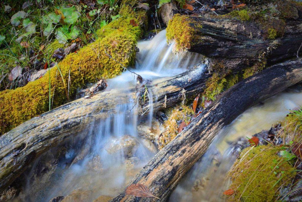 Auf dem Weg zum  Isarursprung: Immer wieder kommen kleine Bäche aus dem Karwendel in das Hinterautal
