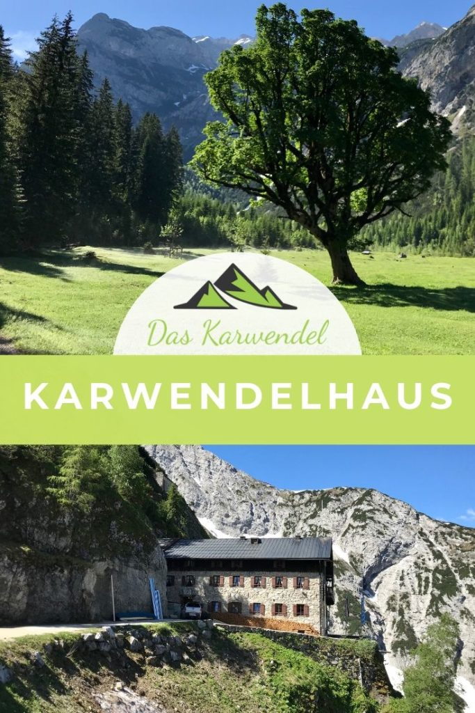 Das Karwendelhaus - bekannte Hütte in den Alpen, beliebt bei Mountainbikern