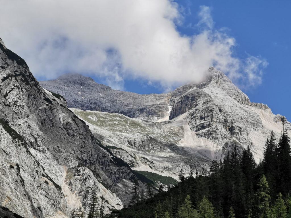 Der Blick zur Birkkarspitze - dem höchsten Berg im Karwendel