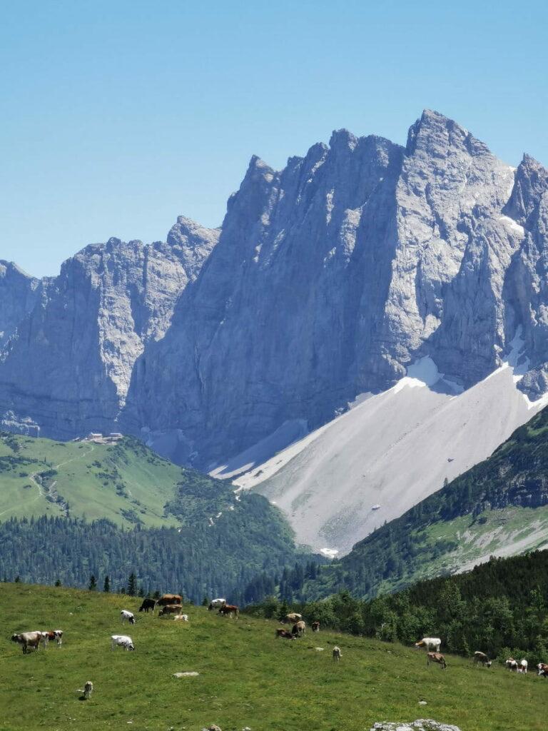 Imposante steinerne Riesen - charakteristisch für das Karwendel