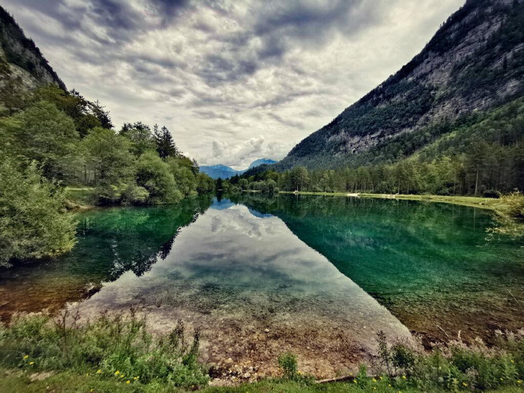 Alpen Sehenswürdigkeiten: Der Bluntausee beim Gollinger Wasserfall