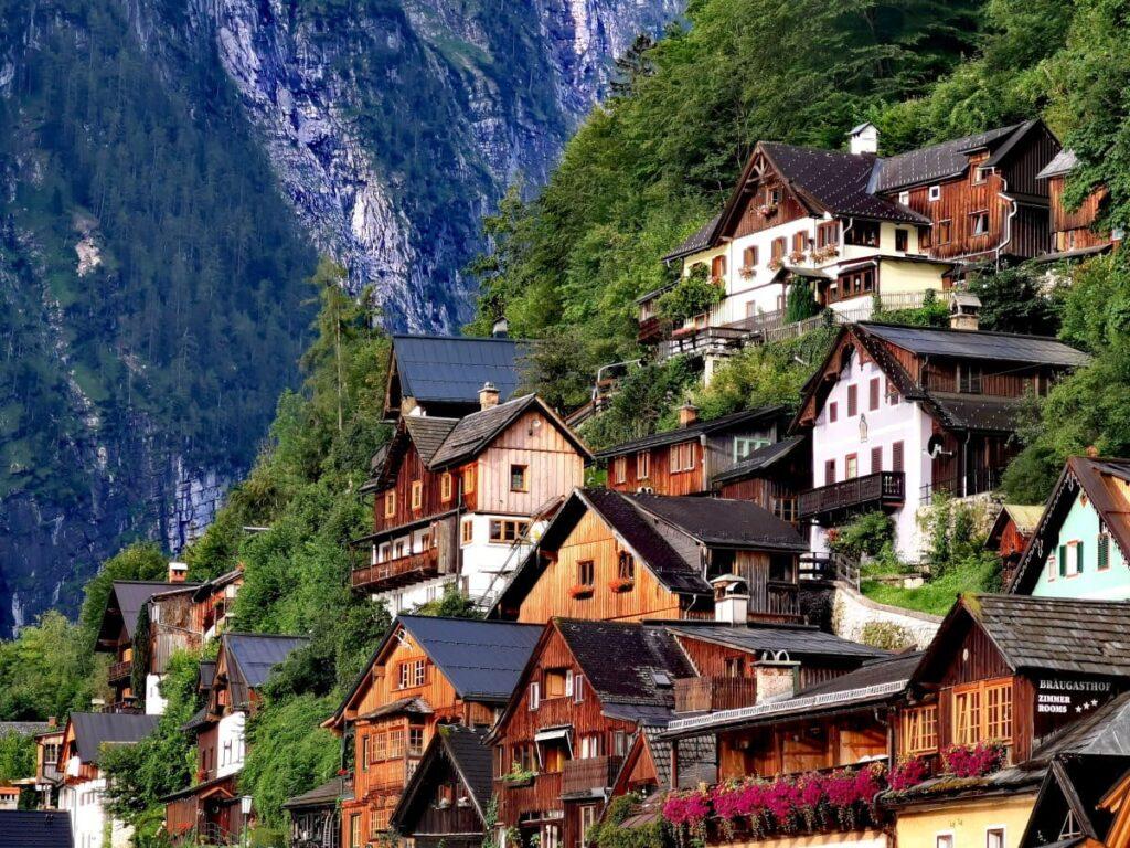 Einer der meistbesuchten Orte in den Alpen - Hallstatt am Hallstätter See
