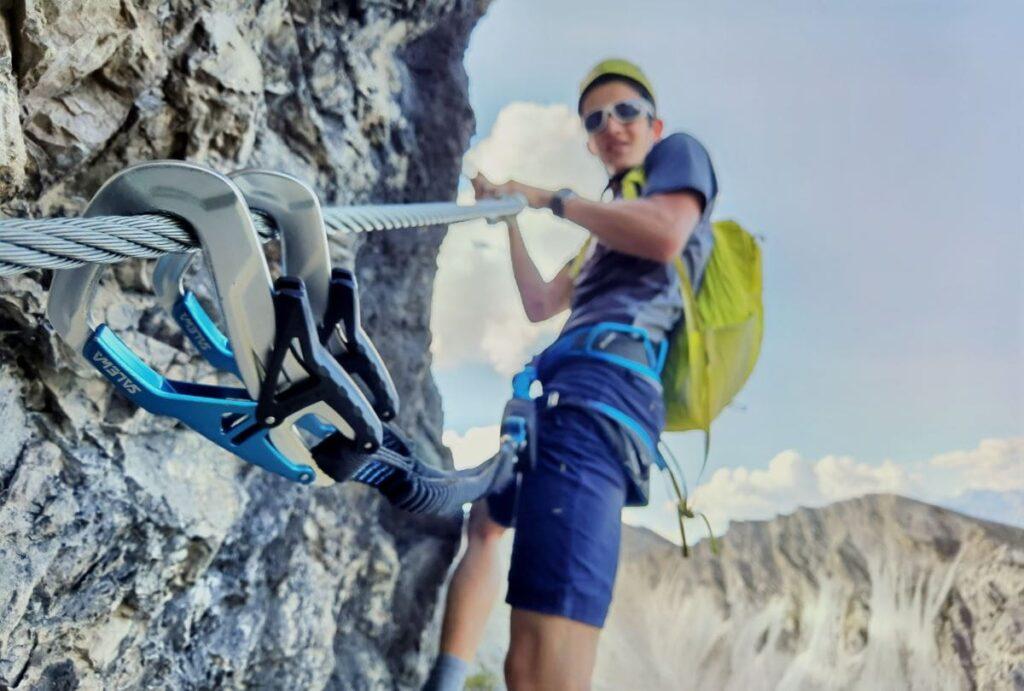 Seefeld Klettersteig im Karwendel - oberhalb der Rosshütte auf die Seefelder Spitze klettern